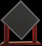 Royal Diamond Clear Glass with Piano Finish Rosewood Base Achievement Awards