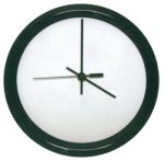 Round Clock with Black Frame Employee Awards