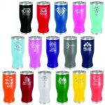 20 oz Pilsner Double Wall Insulated with Clear Lid  Promotional Give Aways